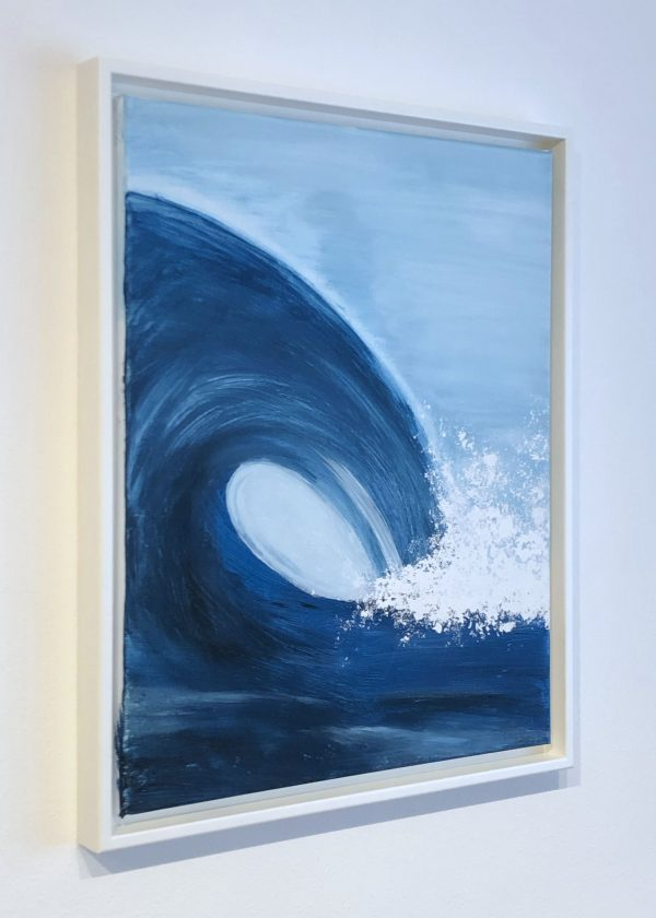 Handgemaltes Wellenbild mit Schattenfugenrahmen kaufen