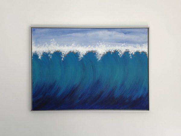 Welle Bild mit Alu Rahmen