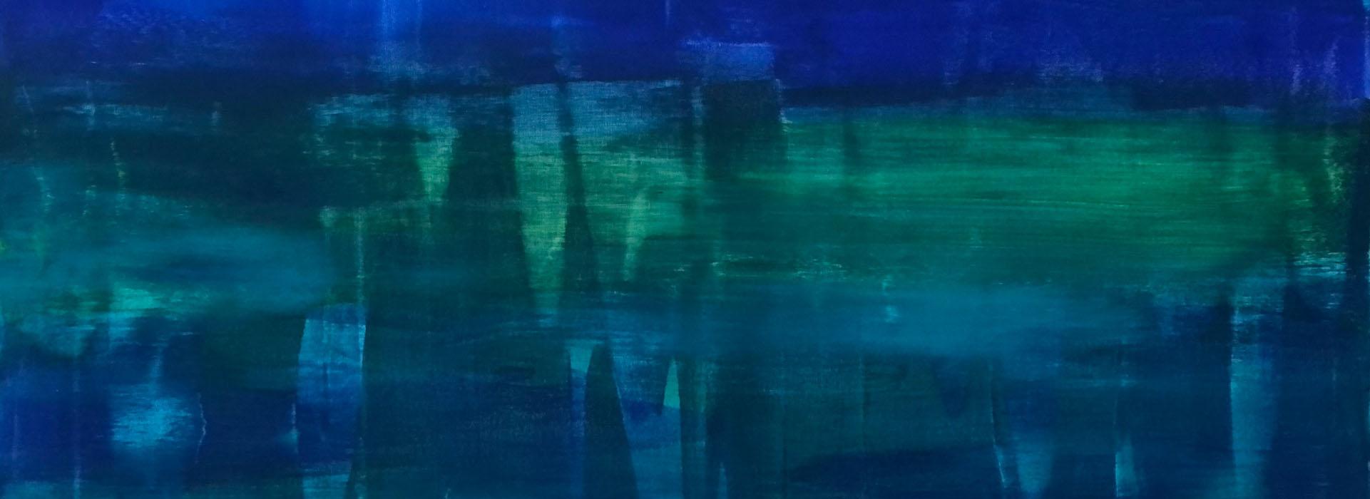 Handgemalte Bilder Abstrakt Blau Grün Meer