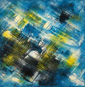 handgemalte abstrakte Bilder blau gelb